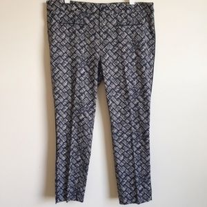 Anthropologie Cartonnier Capri Pant Blue White